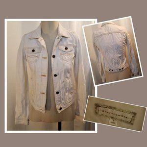 Abercrombie Cream Jean Jacket Juniors L